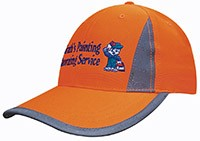 3029 Luminescent Safety Cap with Reflective Inserts and Trim