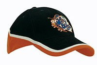 4026 Brushed Heavy Cotton Tri-Coloured Cap